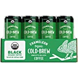 Chameleon Cold-Brew Organic Smooth Black Coffee, 8 Fl. Oz. Can (12 Pack) – Dairy-Free Cold-Brew Coffee Beverage Made with Organic Ethically Sourced Coffee Beans