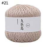 Koobysix - Hilo de seda de algodón para ganchillo, 50 g, tejido a mano, cálido, suave, para tejer a mano 21
