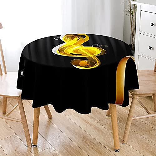 Mantel Redondo 3D Limpiar Con Un Paño Manteles Impermeables A Prueba De Polvo A Prueba De Aceite Cubierta De Mesa Circular Para Cocina, Comedor, Jardín, Cafetería, Buffet, Decoración De Mesa De Fiesta