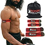Ronin Wraps   BFR Occlusion Bands   Blood Flow Restriction Training   4 Pack (2 for arms - 2 for...