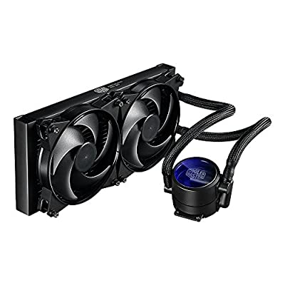 MasterLiquid Pro All-in-One (AIO) Liquid Cooler with FlowOp Technology, Dual Chamber Design and MasterFan Pro Radiator Fans