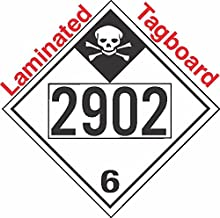 GC Labels-T335c2902, Inhalation Hazard Class 6.1 UN2902 Tagboard DOT Placard, Package of 50 Placards