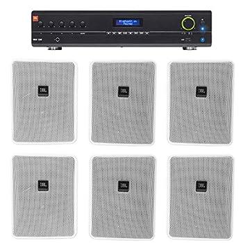 JBL VMA1240 Commercial/Restaurant 240W 70v Amplifier+ 6  JBL 5.25  Wall Speakers
