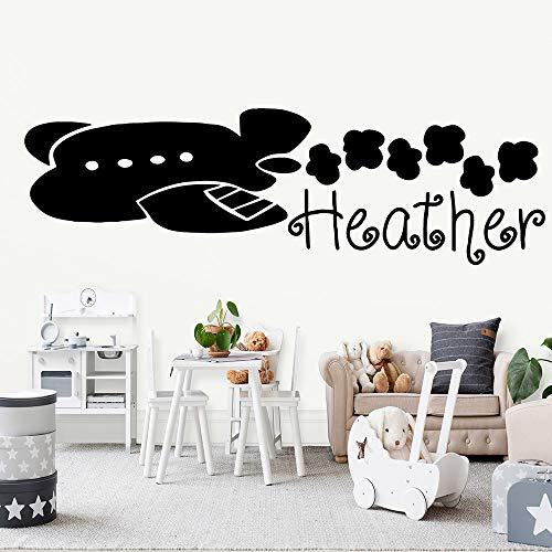 hetingyue Muursticker, vliegtuig, muursticker, woonkamer, waterdicht, slaapkamer
