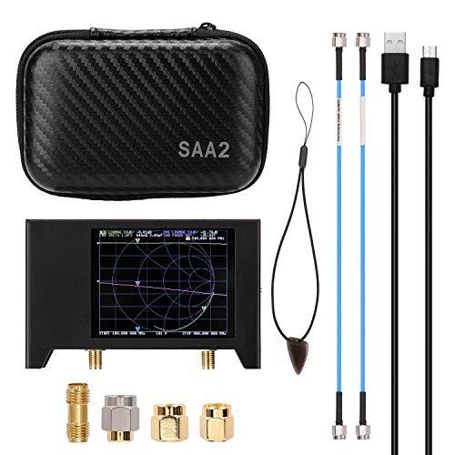 WYZXR 3G Vector Network Analyzer, 2,8-Zoll-TFT-LCD-Touchscreen SAA-2 NanoVNA V2-Antennenanalysator Kurzwellen-HF-UKW-UHF mit Eisengehäuse 50 kHz ~ 3 GHz