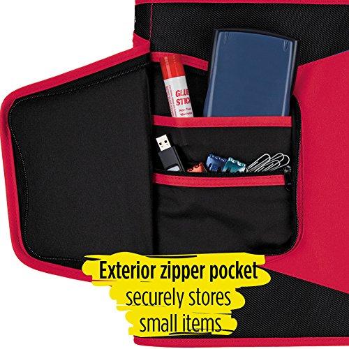 Five Star Zipper Binder, 1-1/2 Inch 3 Ring Binder, 3-Pocket Expanding File, Durable, Red (72206) Photo #3