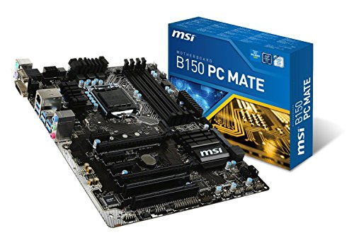MSI Mainboard B150 PC Mate Socket LGA1151 4X DDR4 max 64GB VGA DVI HDMI ATX