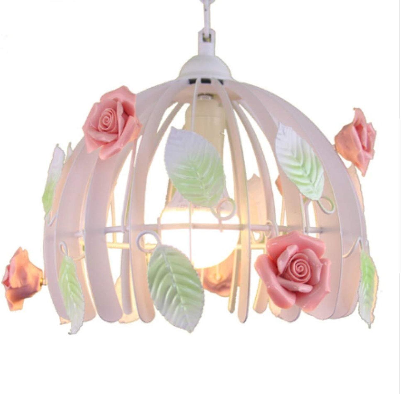 Lampe Suspensions Plafonnier Lustres Lustre Minimaliste En Céramique Rose Suspension Lumières Pendentif En Fer Cage Lampes Pour Salon éclairage Intérieur Mariage
