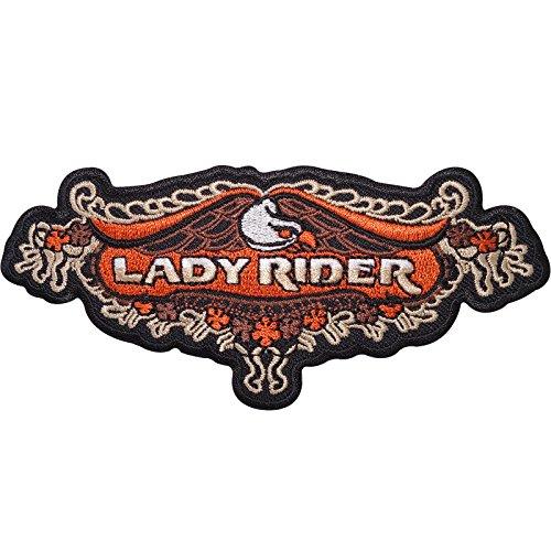 Lady Rider hierro bordado/coser en parche insignia para mujer señoras chaqueta de Moto