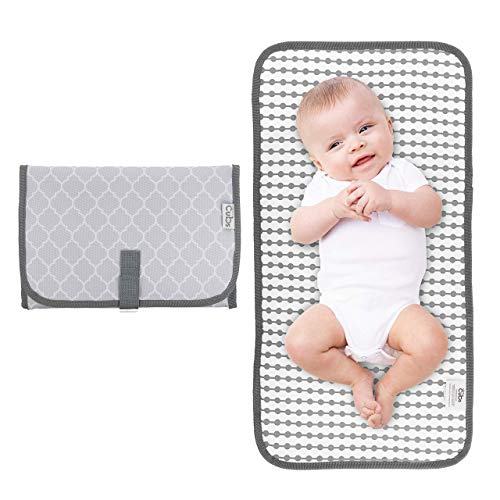 Black Slim and Easy to Clean Waterproof Diaper Clutch w//Pockets for Wipes and Diapers Use One Handed Baby Gift Fridaybaby Portable Diaper Changing Pad Travel Changing Mat for Diaper Bag