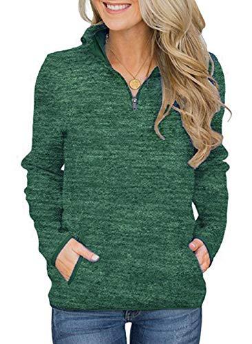 Smile Fish Women's Green Christmas Sweatshirts Top...