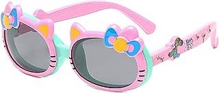 Gafas de sol para niñas Lindo arco Polarizado Gafas de sol Cat Ears Niños Gafas de sol con tapa abatible 4-10