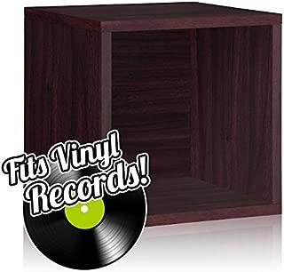 Way Basics Vinyl Record Storage Cube, Espresso