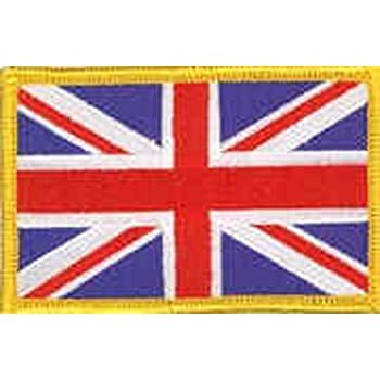 Sew On /& Velcro Embroidered Patch Badge Forces Style Union Flag Blue Edge