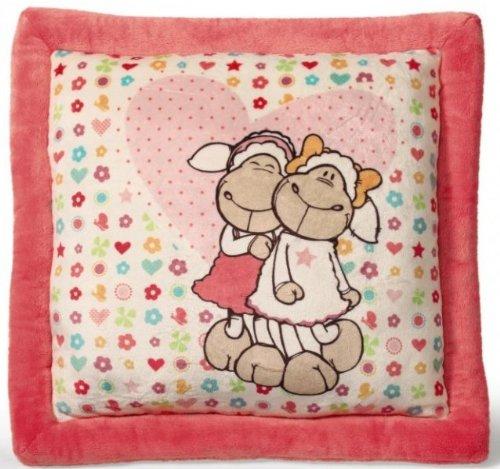 NICI 36342 - Kissen Jolly Amy und Frances, quadratisch, Bedruckt, 40 x 40 cm