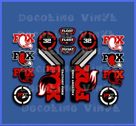 Ecoshirt 6P-TXAN-JWGI Pegatinas Fox Float 32 2015 Heretage Dp1086 Stickers Aufkleber Decals Autocollants Adesivi, Rojo