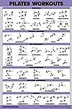 QuickFit Pilates Workout Poster - Pilates Mat Work Exercises (Laminated, 18' x 27')