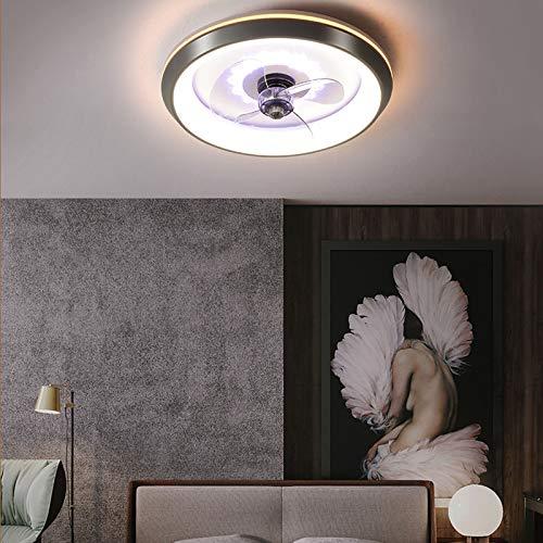 AKEFG Ventilador de luz, Ventiladores de Techo con luz, Control de Velocidad Variable Regulable Lámpara de Techo LED Invisible Moderna, Dormitorio Sala de Estar