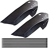 1 Pair Mountain Bike Fender Mud Guard,XINBOUS Adjustable Carbon Fiber MTB Bicycle Mudguard Front + Rear MTB Fender Set Compatible with 20'/24'/26'/27.5'/29' Mountain Bike Mud Guards