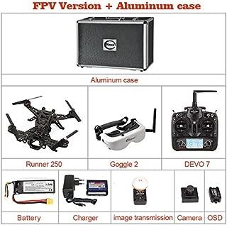 Xiangtat Walkera Runner 250 FPV Racing Quadcopter Drone RTF DELUXE VERSION With Devo 7 & Goggle 2 Glasses & OSD & Hd Camera & Image Transmission Module (Fpv Version) + Aluminum Case