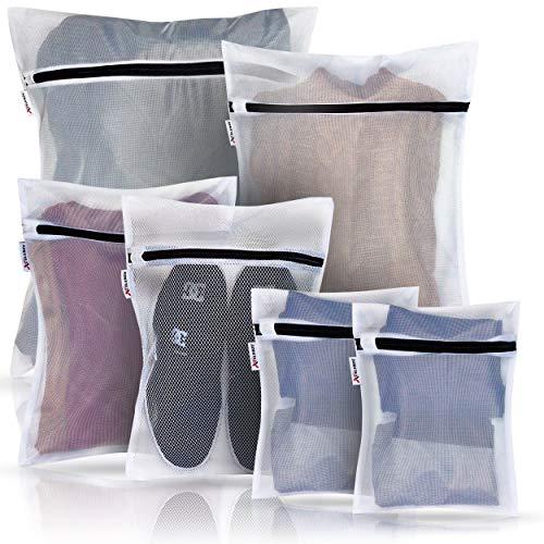 Xcelenze - Wäschenetz für Waschmaschine mit sicherem Reißverschluss | Wäschesack Waschmaschine | Wäschebeutel Trockner Wäschesäckchen Laundry Bag Wäschesäcke BH Waschbeutel Waschmaschine