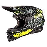 O'NEAL   Casco de Motocross   MX Enduro   Estándar de Seguridad ECE 22.05, Ventilación para una óptima ventilación y refrigeración   3SRS Helmet Ride   Adultos   Negro Amarillo Neón   Talla M