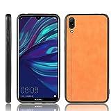 Étui de téléphone Portable Idéal for Huawei Profitez 9 / Y7 Pro 2019 antichocs Couture Vache...