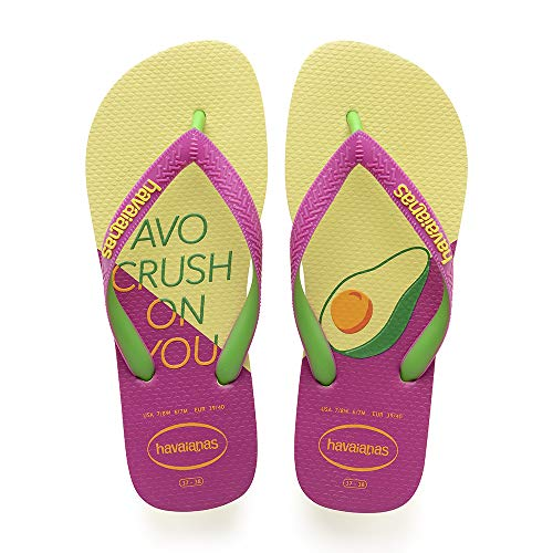 Havaianas Top Cool, Chanclas para Mujer, Multicolor (Pollen Yellow/Rose Gum), 39/40 EU