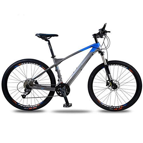 CENPEN Deportes al aire libre en bicicleta de montaña cola dura, bicicleta de fibra de carbono de 26 pulgadas 30 Speed Shift cola dura doble disco de freno de disco de aceite adulta campo a través d