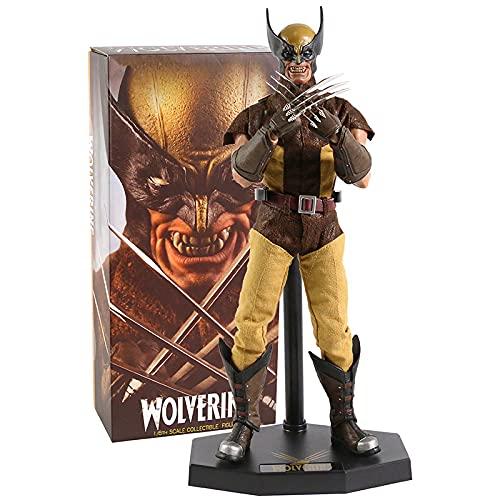 Action Figure in PVC Crazy Toys Marvel X-Men Wolverine 1/6th scala collezionabile Action Figure (colore : 34cm box)