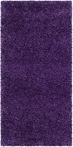 Safavieh Milan Shag Collection SG180 Solid 2-inch Thick Accent Rug, 2' x 4', Purple