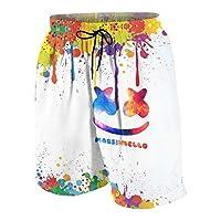 百龍王 Marshmello マシュメロ ビーチパンツ キッズ サーフパンツ 青少年(7-20歳) 海水パンツ ショーツ ショートパンツ 通気速乾 水陸両用 S(7-8)White1