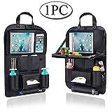 Auto Organizer, AresKo Auto Esstisch Rückenlehnenschutz mit Bildschirm Berührbar Tablet Halter Multi-Tasche für Auto ordentlich, 1 Stück