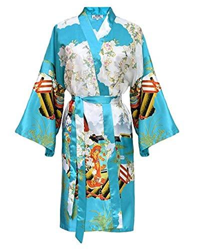 Vestido kimono Laciteinterdite-Dressing, de forma turquesa