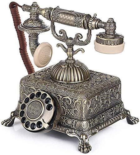 RUINAIER Comfort Volume Teléfono Fijo Teléfono Retro, Teléfono Antiguo Vintage Retro Landline House Home Teléfono A Teléfono Dial Hogar y Teléfono de Oficina, Estilo Dial (Color: Botón Estilo)