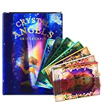 Crystal Angelのオラクルカード:44シート家族、パーティー、エンターテイメントのための美しい絵のファッショナブルなタロットカード