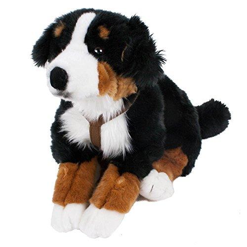 Leosco Berner Sennenhund mit Geschirr, liegend 62 cm, Plüschhund, Plüschtier, Kuscheltier