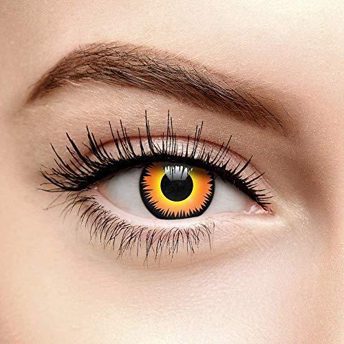 Chromaview Werwolf Fire Farbige Kontaktlinsen Ohne Stärke Orange (Tageslinsen)