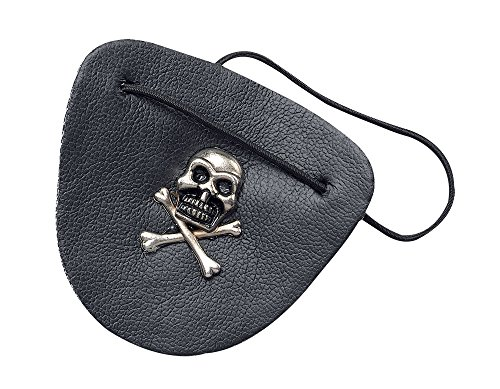 Bristol Novelty MD141 Patch œil de Pirate en Cuir Noir Taille Unique