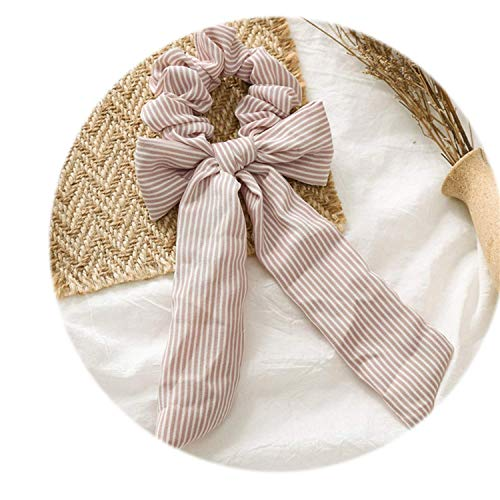 OULN1Y Bandeaux 2019 Bow Streamers Hair Ring Ribbon Girl Hair Bands Scrunchies Ponytail Hair Bows Girl Holder Rope Hair Accessories,K