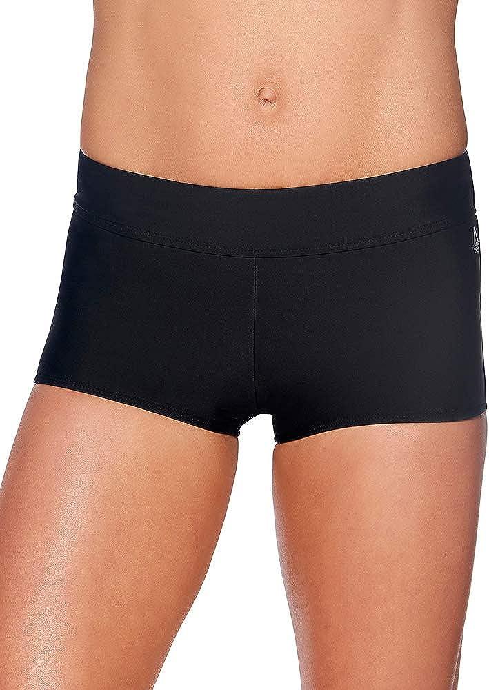 Reebok Lifestyle Women's Swimwear Infinity Drawcord Shorty Bathing Suit Bottom