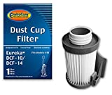 EnviroCare Premium Replacement Vacuum Cleaner Dust Cup Filter for Eureka Style DCF-10/DCF-14 Uprights, White