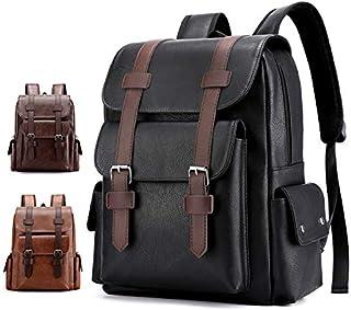 Vintage Leather In Pelle Sintetica Sacchetto Di Scuola Zaino Unisex Donne Degli Uomini Business Casual Zaini Adolescenti S...