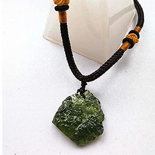 ZXCZXC MoldAvita Natural Aerolitas Verdes Piedra de Cristal Colgante de energía Apotropaic 4G-6G / PCS + Cuerda Libre Collar único Reiki Energy