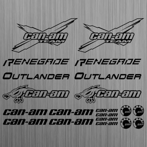 SUPERSTICKI can-am canam Team BRP Renegade Outlander Sticker Quad ATV 20 Pieces aus Hochleistungsfolie Aufkleber Autoaufkleber Tunin