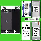 PHONEPOINT24.COM Pantalla LCD táctil para iPhone 5 Retina (cristal), color negro