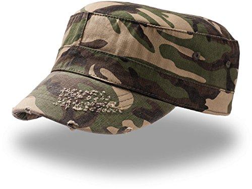 Army Destroyed Cap im Fidel Castro Kuba Look. Fullcap im Military Style in 7 Farben und den Grössen S/M und L/XL S / M,Camouflage