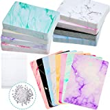 800 Pieces Marble Design Earring Cards Jewelry Display Card Holder Set, 200 Pieces 8 Colors Handmade Marble Cards 200 Pieces Self-Seal Bags and 400 Earring Backs for DIY Jewelry Display and Packing