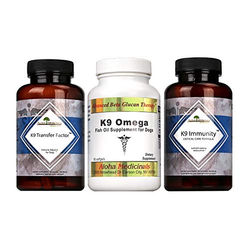 Aloha Medicinals - Ultimate K9 Immune Support Bundle - Pet Health Supplements - Antibodies - Cell Repair - Immunity - 3 Bottle Bundle