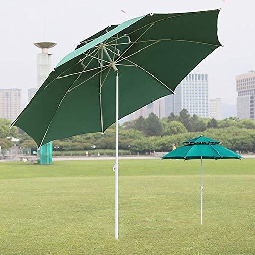 HXCD Ombrello da Mercato Ottagonale Offset, Grande ombrellone da Giardino da 8,2 Piedi, inclinazione di 30 °, Doppia Parte Superiore Traspirante (Rosso/Bianco/Verde/Blu)